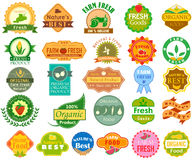 Farm Fresh Organic label tag sticker for Advertisement Royalty Free Stock Images
