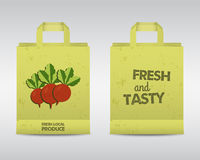 Farm Fresh Paper Bag Template Stock Photos