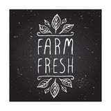 Farm fresh - product label on chalkboard Royalty Free Stock Photo