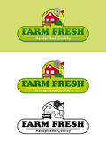 Farm Fresh Product Label with Farmhouse Vector Illustration Royalty Free Stock Image