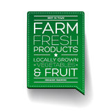 Farm fresh product label Stock Photo