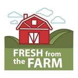 Farm fresh product label vector farmer barn template Royalty Free Stock Image