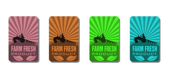 Farm fresh product stickers Royalty Free Stock Photos
