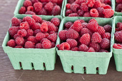 Farm Fresh Raspberries Stock Photos