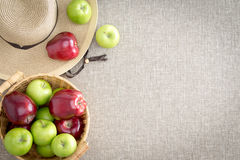 Farm fresh red and green apples Stock Photography