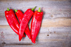 Farm fresh red hot chili peppers Royalty Free Stock Photography