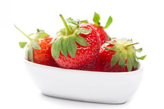 Farm fresh ripe red strawberries Royalty Free Stock Images