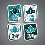 Farm Fresh Sticker. S set Stock Photo