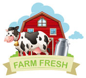 Farm fresh with text Royalty Free Stock Image