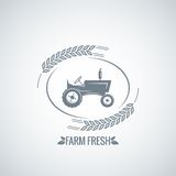 Farm fresh tractor design background Stock Images