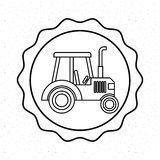 Farm fresh tractor icon. Vector illustration design Royalty Free Stock Image