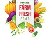 Farm fresh vegetables emblem Stock Photos