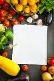 FARM FRESH vegetables and fruits Stock Photos