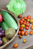 FARM FRESH vegetables and fruits Stock Image