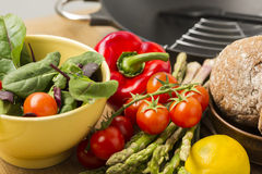 Farm fresh vegetables ready to be prepared Royalty Free Stock Images