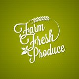 Farm fresh vintage lettering background Royalty Free Stock Photography