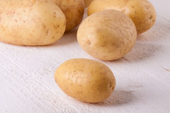 Farm fresh washed whole potatoes Stock Image