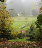 Farm garden during fall time. Royalty Free Stock Images
