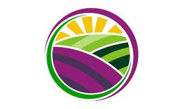 Farm and Garden. Logo Design Template Vector Stock Photo