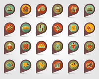 Farm Garden flat mapping pin icon with long shadow. Eps 10 Royalty Free Stock Images