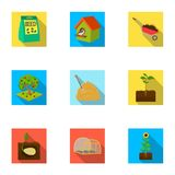 Farm, garden, nature and other web icon in flat style.Ecosystem, ecology, plot, icons in set collection. Farm, garden, nature and other web icon in flat style stock illustration