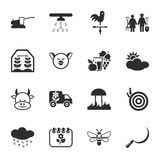 Farm, gardening 16 icons universal set for web and mobile. Flat vector illustration
