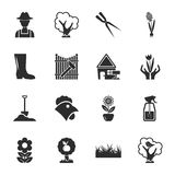 Farm, gardening 16 icons universal set for web and mobile. Flat Royalty Free Stock Images