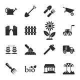 Farm, gardening 16 icons universal set for web and mobile Stock Photo