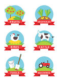 Farm and gardening vector icons Stock Photography