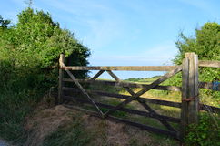 Farm gate in England Royalty Free Stock Images