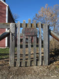 Farm gate Stock Image