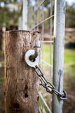 Farm Gate Lock Royalty Free Stock Image