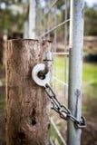 Farm Gate Lock royalty free stock image