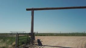 Farm gate stock video footage
