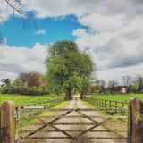 Farm Gate stock image