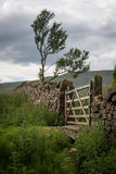 Farm Gate and Stone Wall Royalty Free Stock Photo