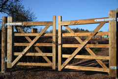 Farm Gates Stock Image