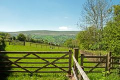 Farm gateway in the Black mountains of Herefordshire, United Kingdom. Royalty Free Stock Images