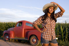 Farm Girl Royalty Free Stock Images