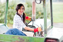 Farm girl stock photo