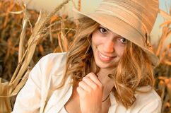 Farm girl Royalty Free Stock Photo