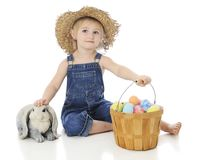 A Farm Girl`s Easter Royalty Free Stock Images