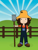 Farm Girl -Vector royalty free illustration