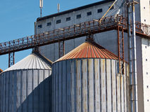 Farm grain silo Stock Images