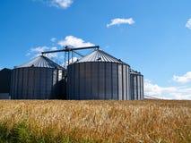 Farm grain silo Stock Image