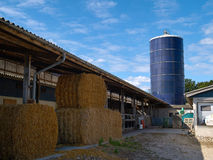 Farm grain silo Royalty Free Stock Photos