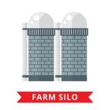 Farm grain silo Royalty Free Stock Photography