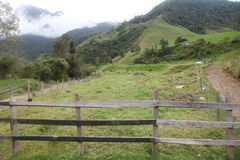 The farm. A great view of the farm in salento colombia Stock Photo