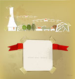 Farm, green houses and harvest White city collection. Farm, green houses and harvest abstract White city collection vector illustration