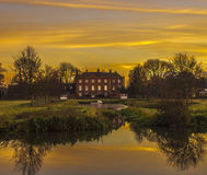 Farm Hall Godmanchester. The sunnset over Farm Hall Godmanchster Royalty Free Stock Images